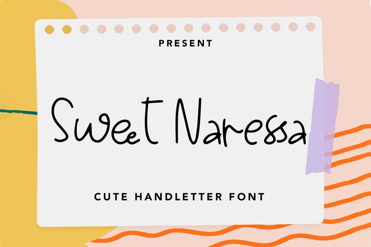 Sweet Naressa - Cute Handletter Font example image 1