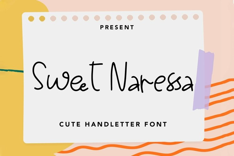 Web Font Sweet Naressa - Cute Handletter Font example image 1