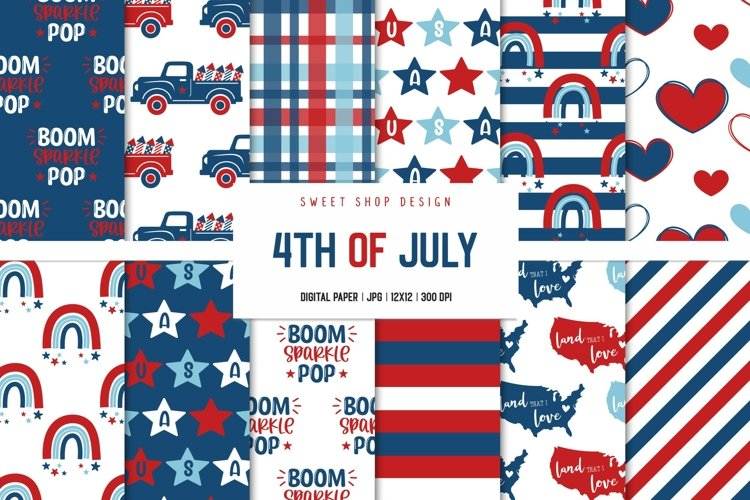 Digital Paper Pack 4th Of July