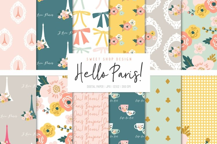 Digital Paper Pack HELLO PARIS