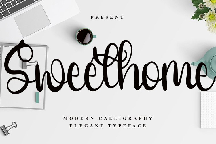 Sweethome - Modern Calligraphy Font example image 1