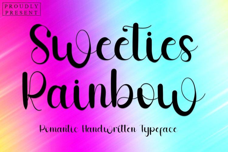 Sweeties Rainbow - Romantic Handwritten Font example image 1