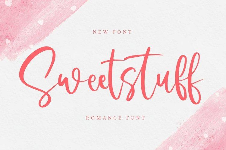 Web Font Sweetstuff - Romance Font example image 1
