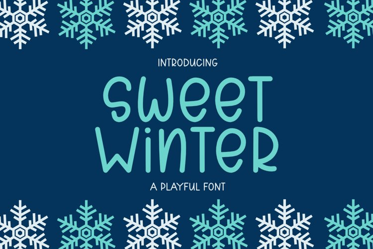 Sweet Winter - A Playful Font example image 1