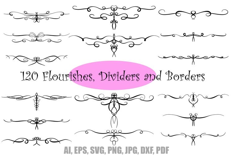 Swirls Dividers Flourishes Borders Download Collection by Squeeb Creative