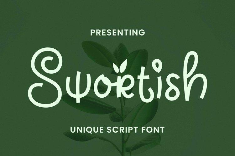 Web Font Swortish example image 1