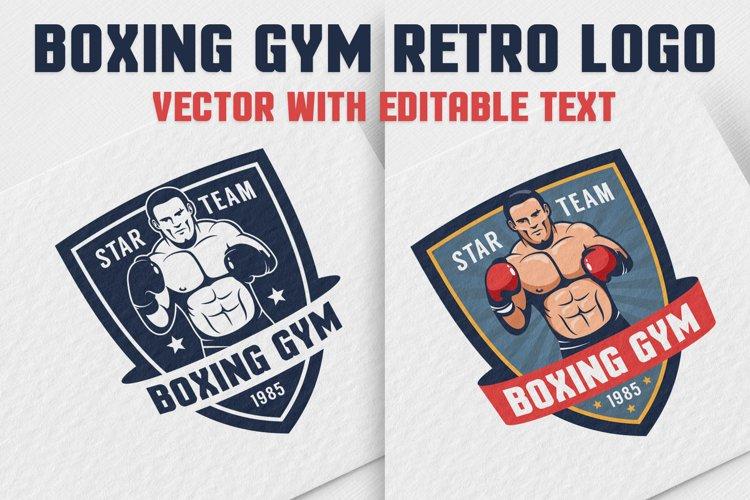 Boxing Gym Retro Logo