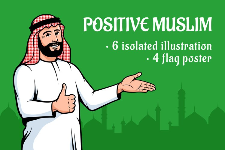 Positive Muslim Arabian Man
