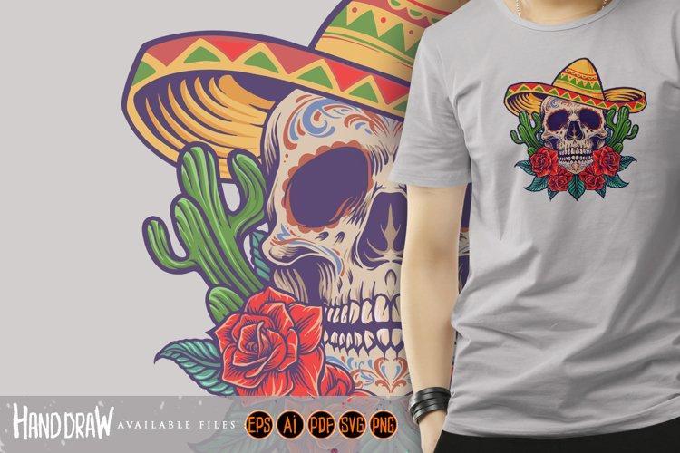 Cinco de Mayo Mexican Skull Logo Mascot example image 1