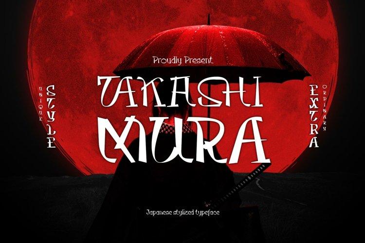 Takasimura Typeface example image 1