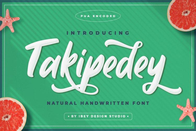 Takipedey - Handwritten Script Font example image 1