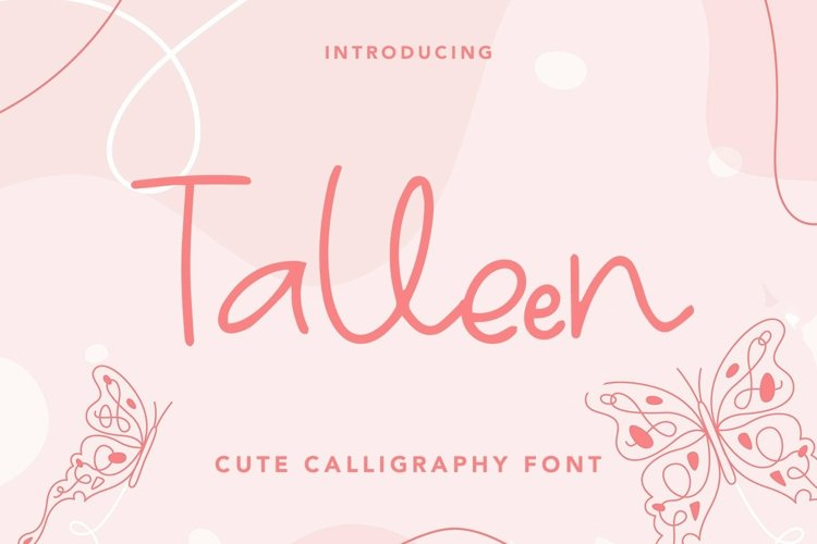 Web Font Talleen - Cute Calligraphy Font example image 1
