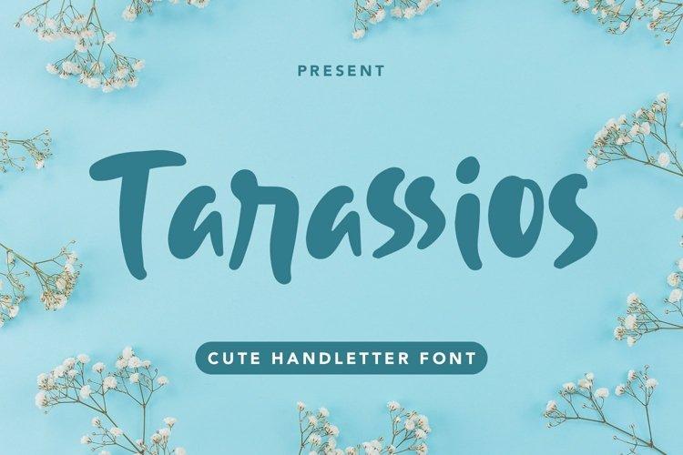 Web Font Tarassios - Cute Handletter Font example image 1