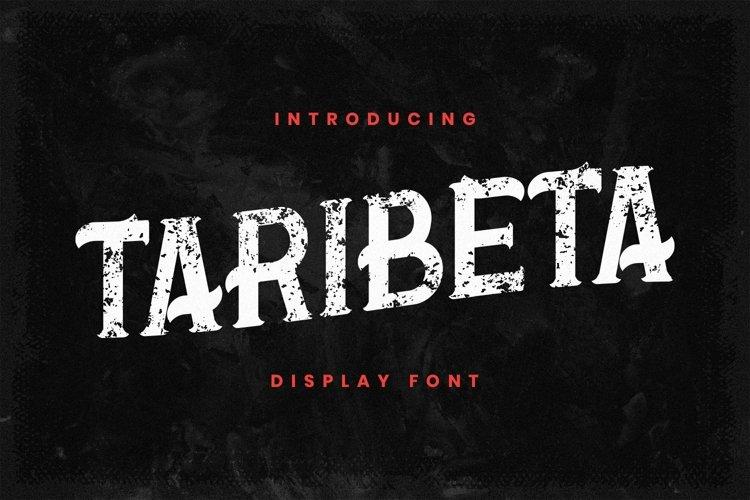Web Font Taribeta example image 1