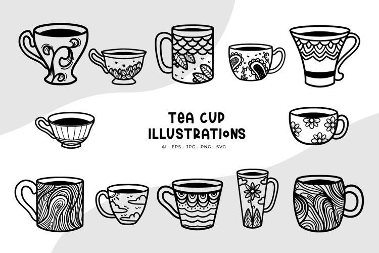 Tea Cup Illustrations