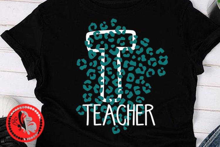 Teacher shirt svg Leopard print Back to School Teach png