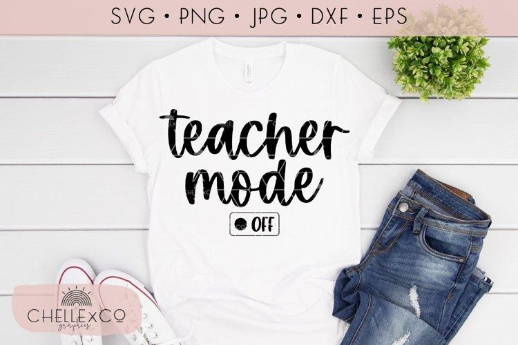 Teacher Mode Off Teacher SVG