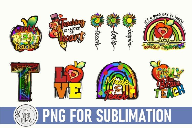 Teacher Sublimation Design Bundle