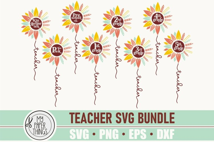 Teacher SVG Bundle | Hello School svg