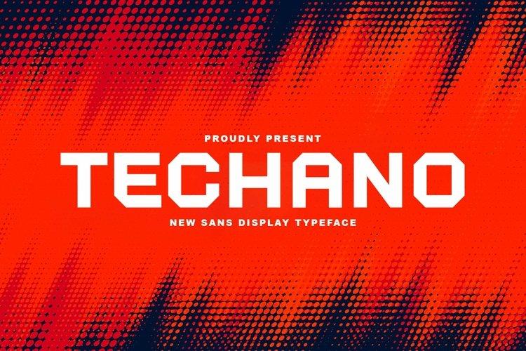 Web Font Techano example image 1
