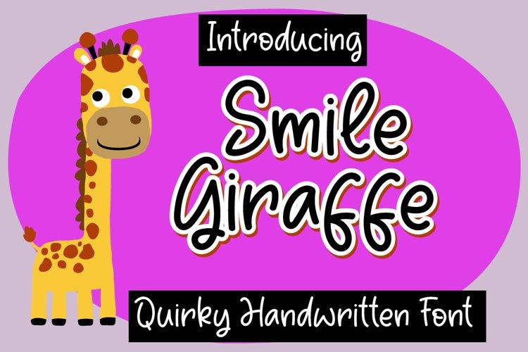 Smile Giraffe example image 1
