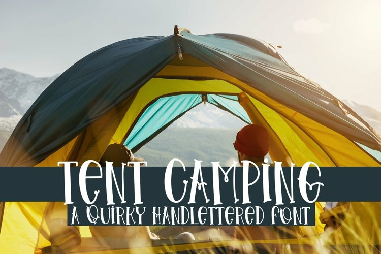 Web Font Tent Camping - A Quirky Handlettered Font example image 1