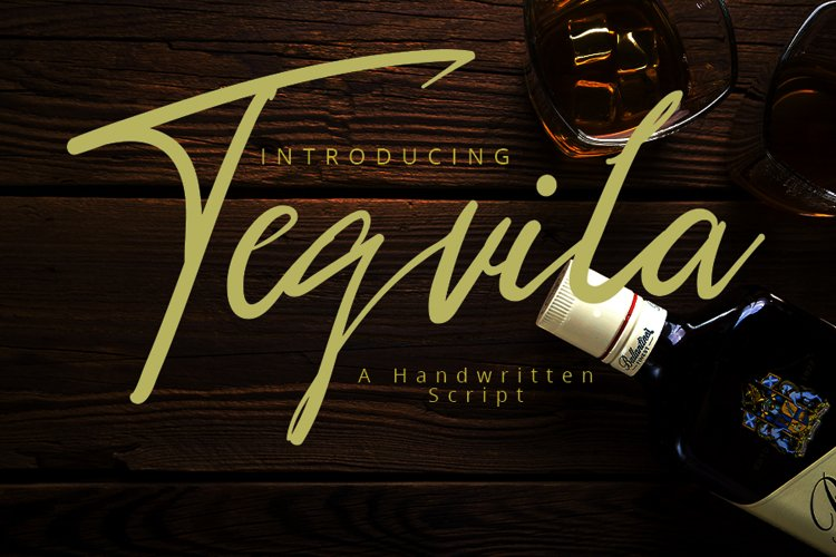 Tequila   A Script Typeface example image 1