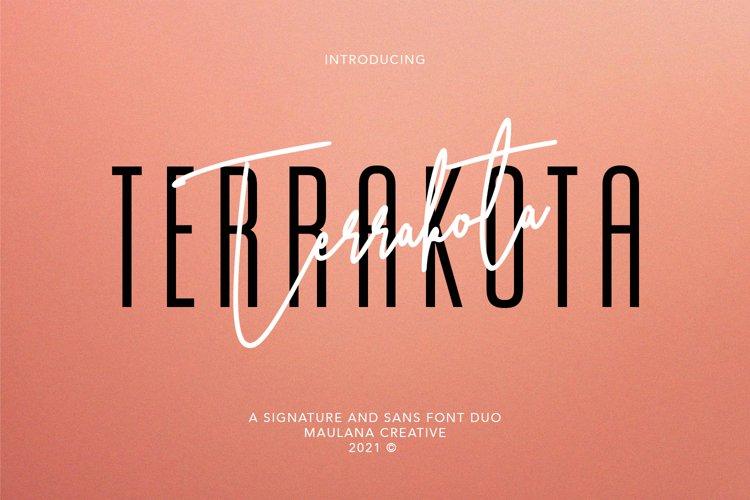 Terrakota Signature Sans Font Duo example image 1