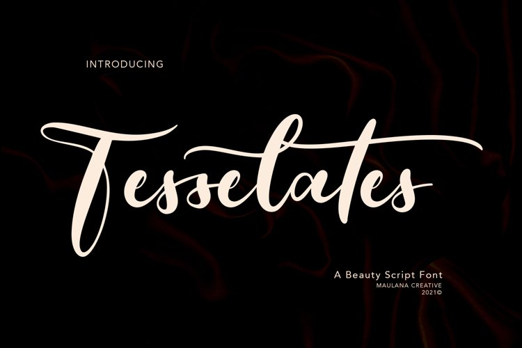 Tesselates Beauty Script Font example image 1