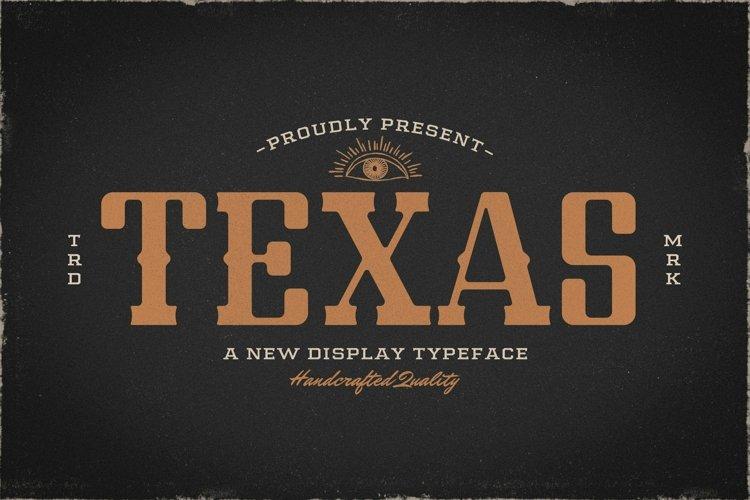 Web Font Texas example image 1