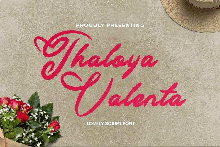 Web Font ThaloyaValenta - Valentines Font example image 1