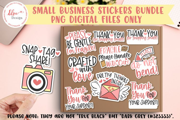Thank You for Your Business PNG Stickers Bundle example image 1