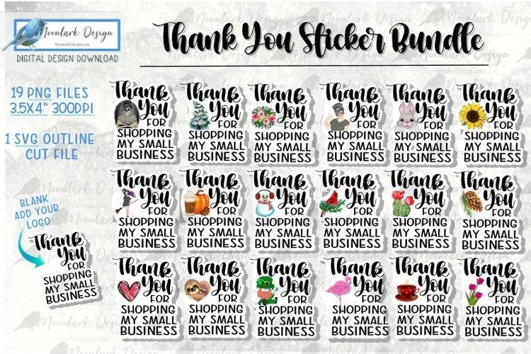 Business Thank You Sticker Bundle, PNG SVG seasonal and holi