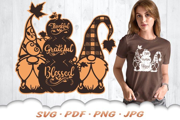 Fall Pumpkin Garden Gnome SVG Cut Files example image 1