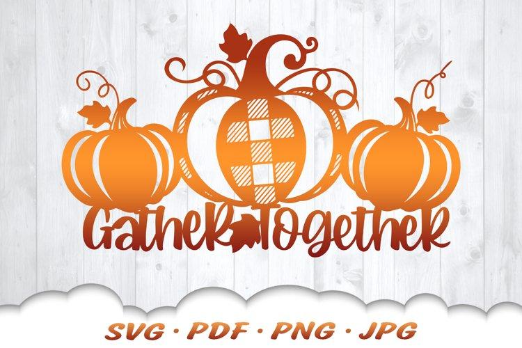 Thanksgiving Farmhouse Pumpkin Sign SVG Cut Files example image 1