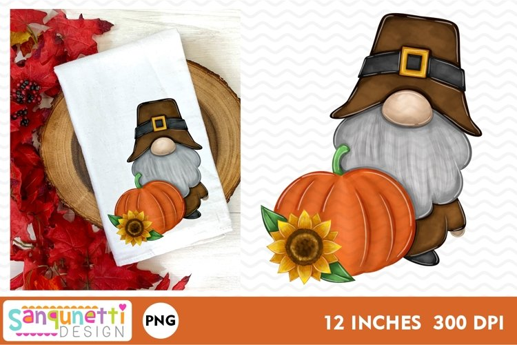 Thanksgiving gnome fall PNG Sublimation example image 1