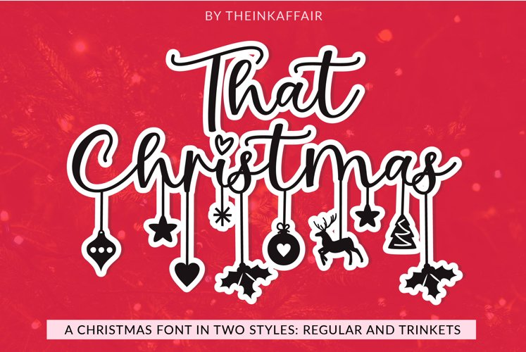 That Christmas - a two style Christmas hanging ornament font example image 1