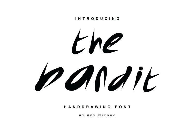 The Bandit Font example image 1
