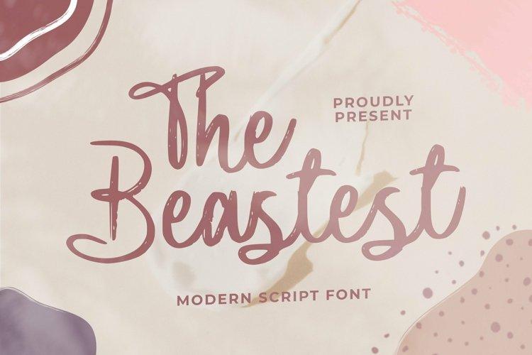 Web Font The Beastest example image 1