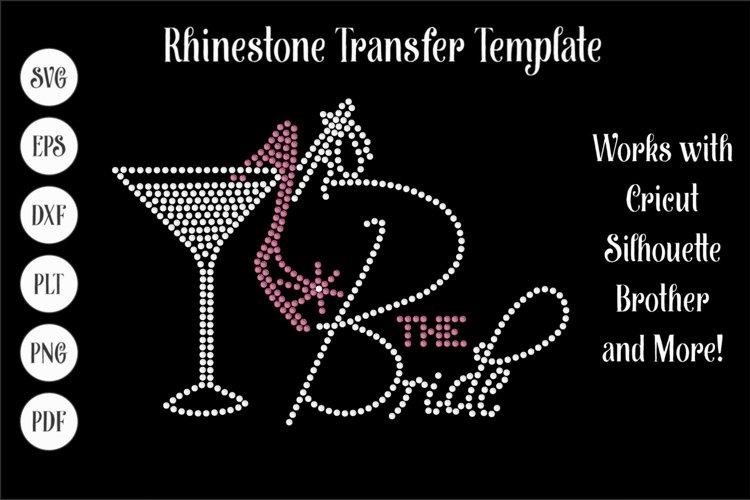 Bride Wedding Rhinestone SVG Template