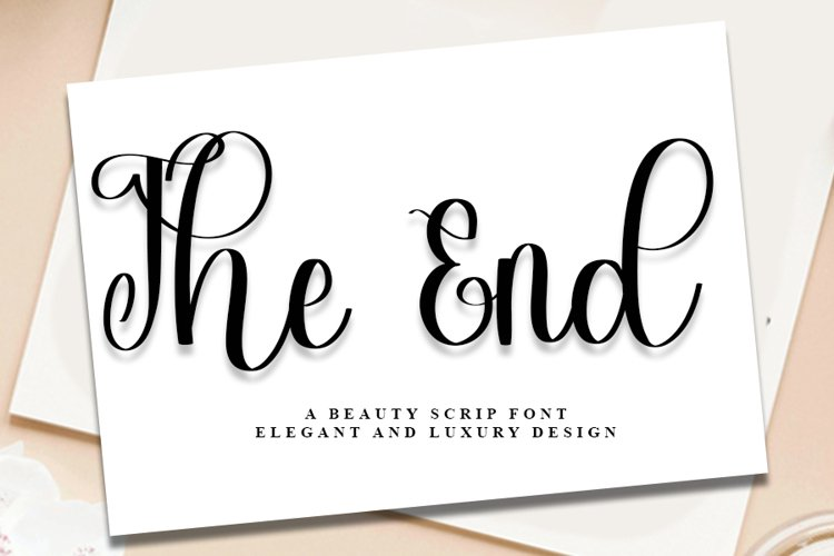 The End - A Beauty Script Font example image 1