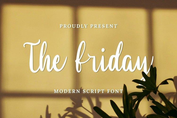 Web Font The Friday Font example image 1