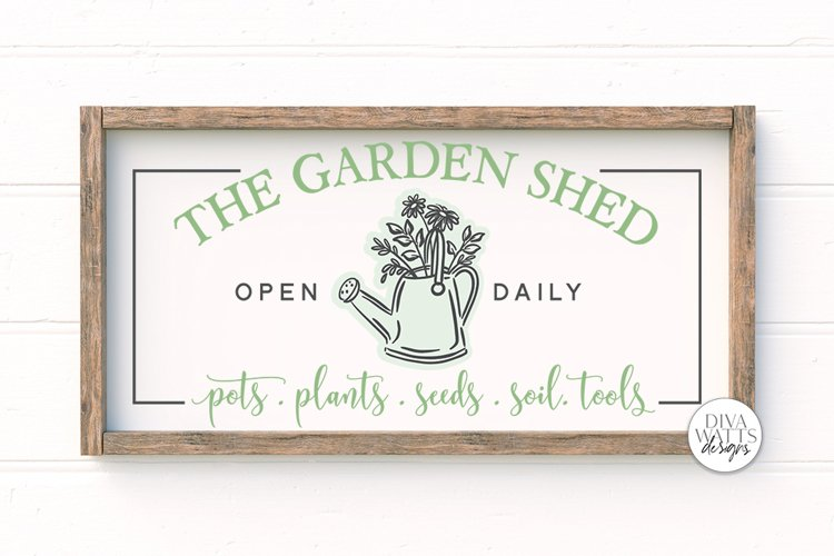 The Garden Shed SVG | Farmhouse Sign | DXF and more