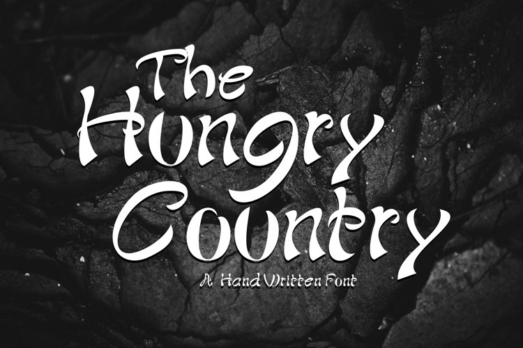 The Hungry Country Font example image 1
