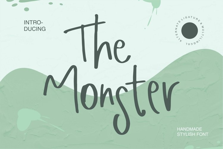 Web Font The Monster - Handmade Stylish Font example image 1