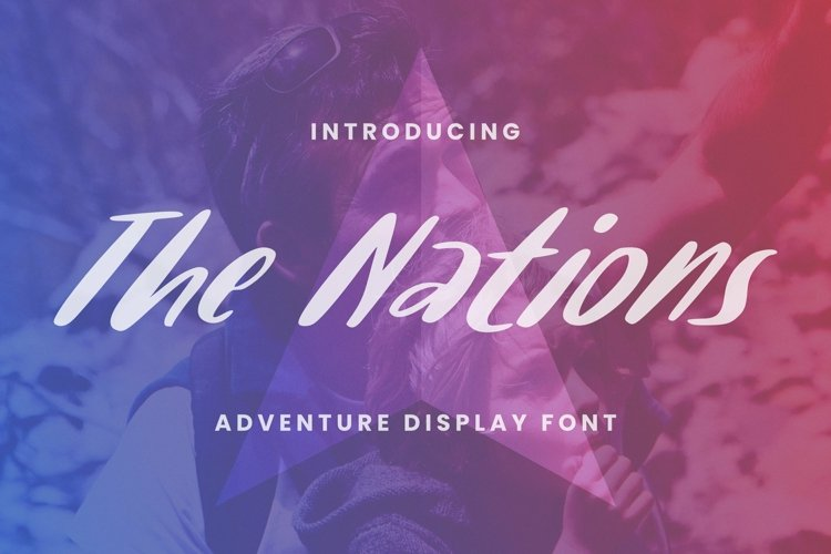 Web Font The Nations example image 1