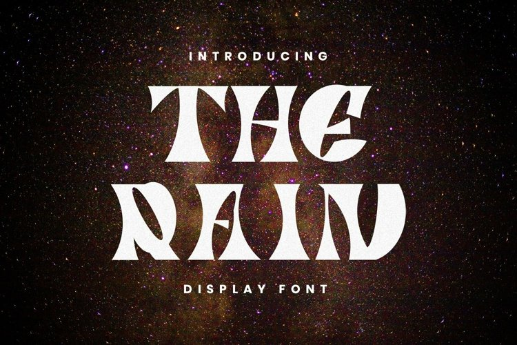 Web Font The Rain example image 1