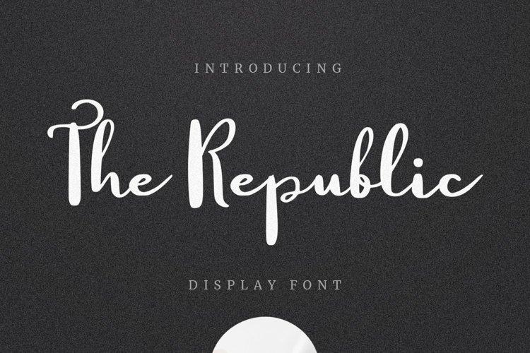 Web Font The Republic example image 1