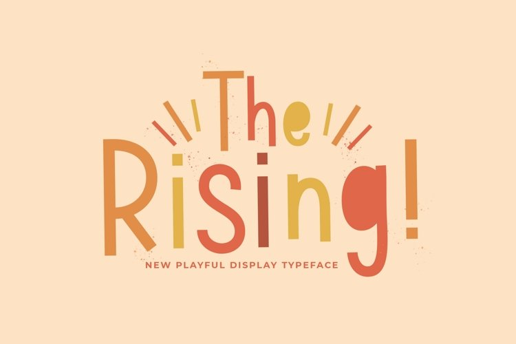 Web Font The Rising example image 1