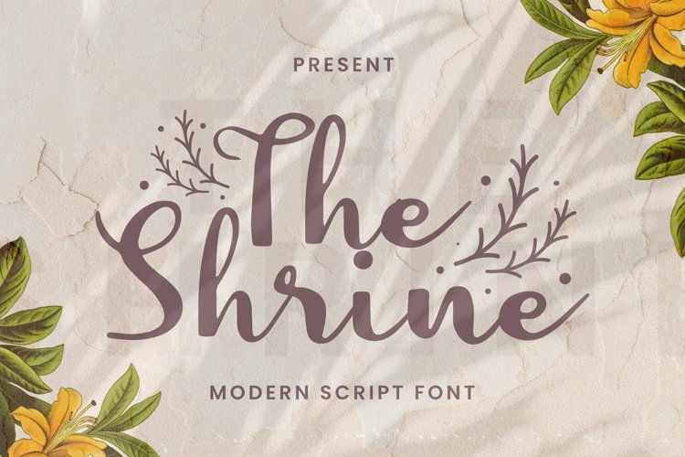Web Font The Shrine Font example image 1
